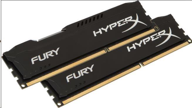 DIMM DDR4 8GB 2400MHz CL15 (Kit of 2) KINGSTON HyperX FURY Black (HX424C15FBK2/8)