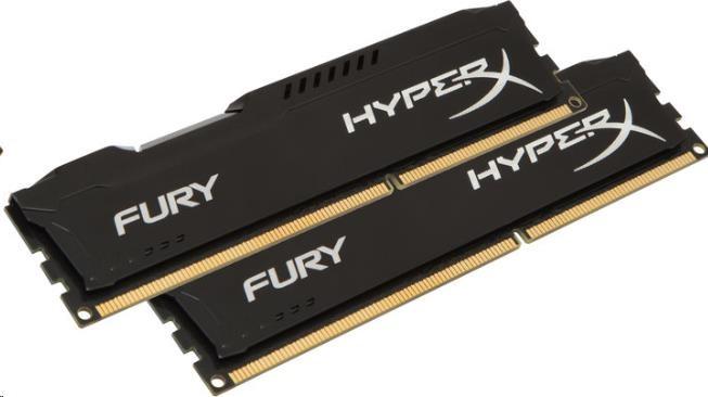DIMM DDR4 16GB 2400MHz CL15 (Kit of 2) KINGSTON HyperX FURY Black (HX424C15FB2K2/16)