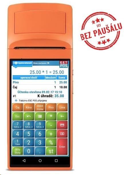 SUNMI EET-POS V1s - mobilní EET terminál s tiskárnou