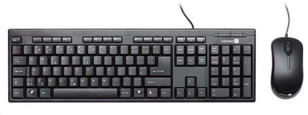 CONNECT IT Drátový set klávesnice a myš CI-440, černý
