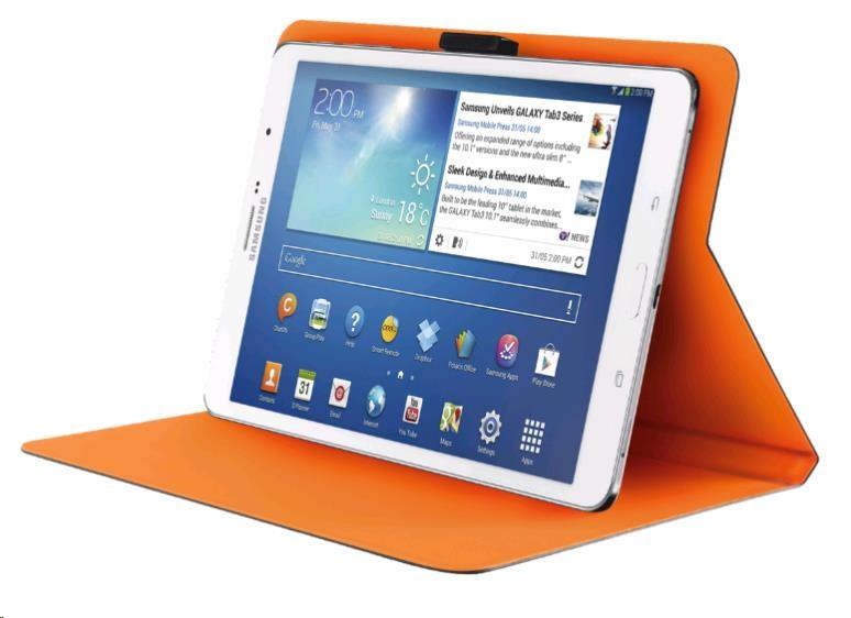 "TRUST Pouzdro na tablet 7-8"" Aeroo Ultrathin Folio Stand for tablets - šedé/oranžové (19991)"
