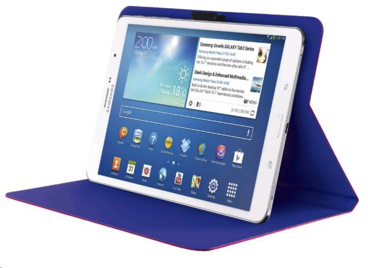 "TRUST Pouzdro na tablet 7-8"" Aeroo Ultrathin Folio Stand for tablets - růžové/oranžové (19992)"