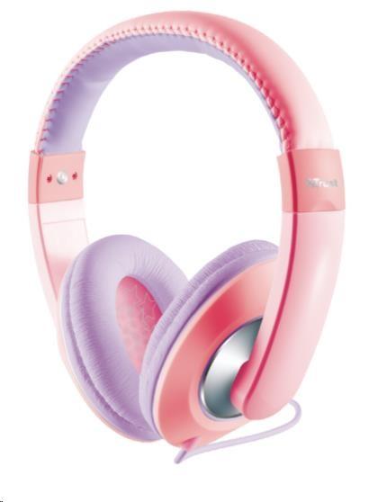 TRUST Sluchátka Sonin Kids Headphone, růžová (pro děti) (19837)