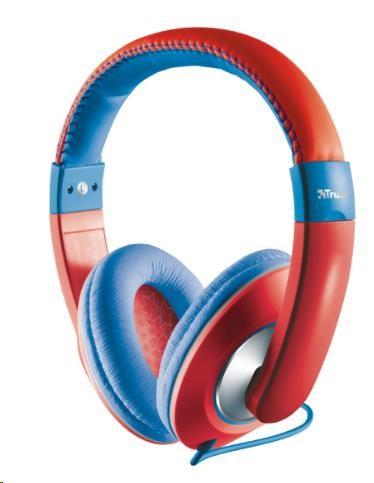 TRUST Sluchátka Sonin Kids Headphone, červené (pro děti) (19836)