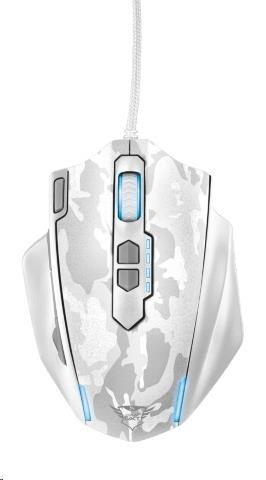 TRUST Myš GXT 155W Gaming Mouse - bílá kamufláž (20852)
