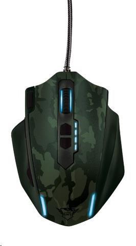 TRUST Myš GXT 155W Gaming Mouse - zelená kamufláž (20853)