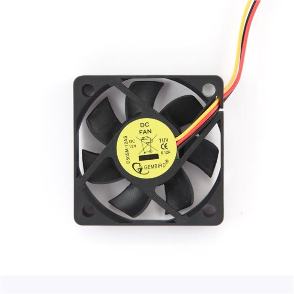 GEMBIRD ventilátor do skříně 50x50x10, DC ložisko, sleeve bearing (D50SM-12AS)