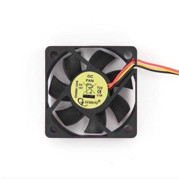 GEMBIRD ventilátor do skříně 50x50x10, kuličkové ložisko, sleeve bearing (D50BM-12AS)
