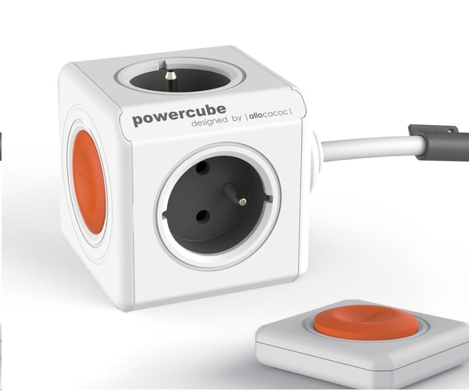 Allocacoc PowerCube Extended Remote, white/grey (8718444083535)