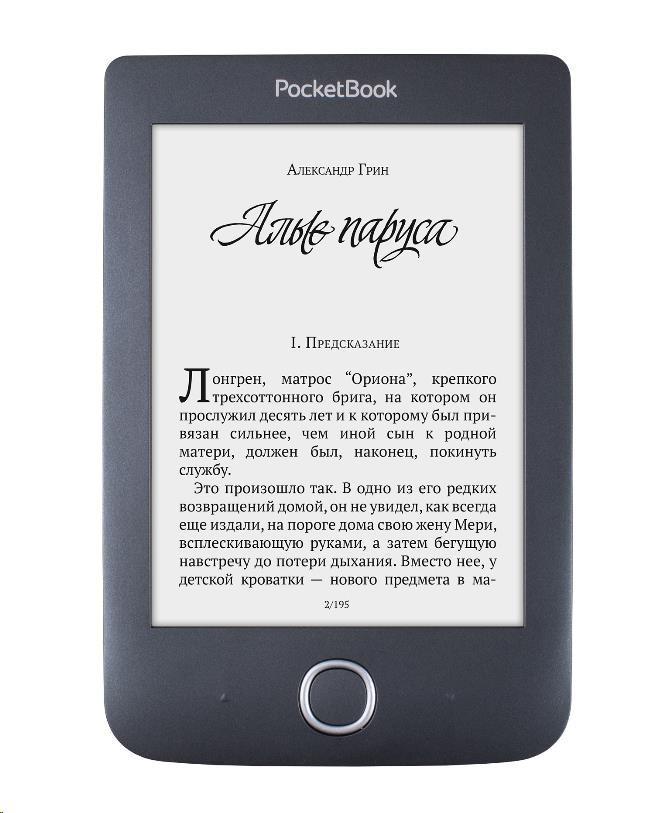POCKETBOOK 614+ Basic 3 E-book čtečka - černá (PB614W-2-E-WW)