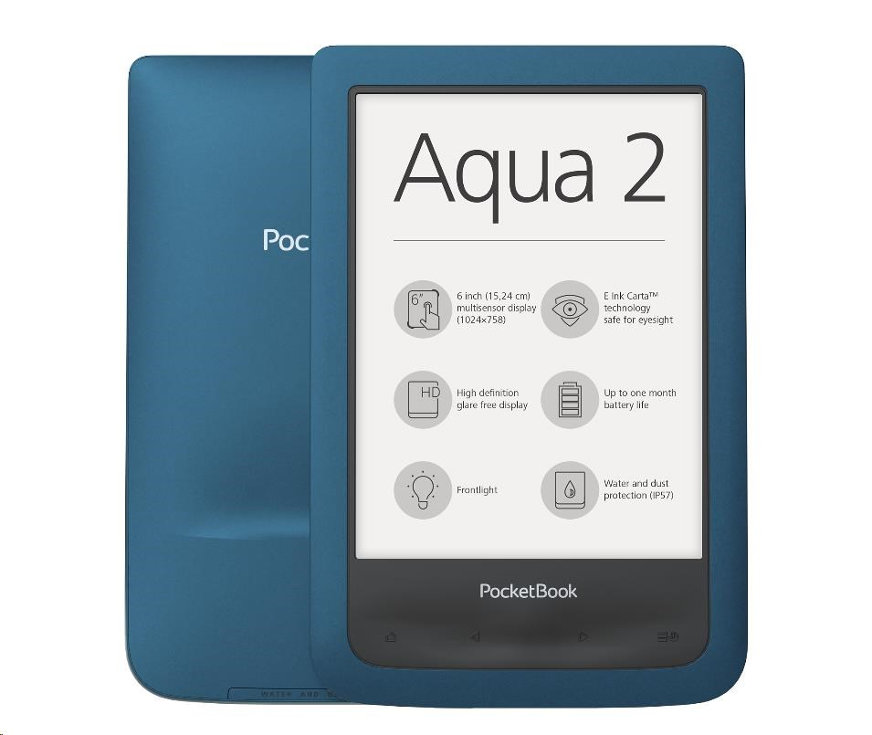 POCKETBOOK 641 Aqua 2 E-book čtečka (PB641-A-WW)