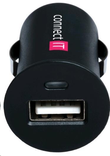 CONNECT IT USB nabíječka do auta 1x USB, černá (5V/1A) (CI-177)