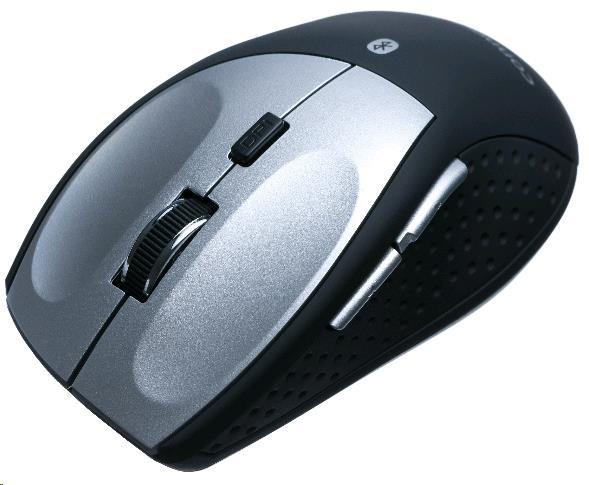 CONNECT IT Myš CI-189 (MB2000) Bluetooth laserová, čero-stříbrná