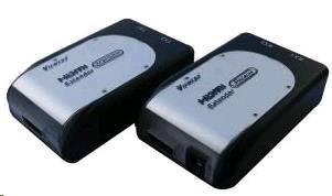 PREMIUMCORD HDMI extender na 60m přes 2 kabely Cat5e (khext40)