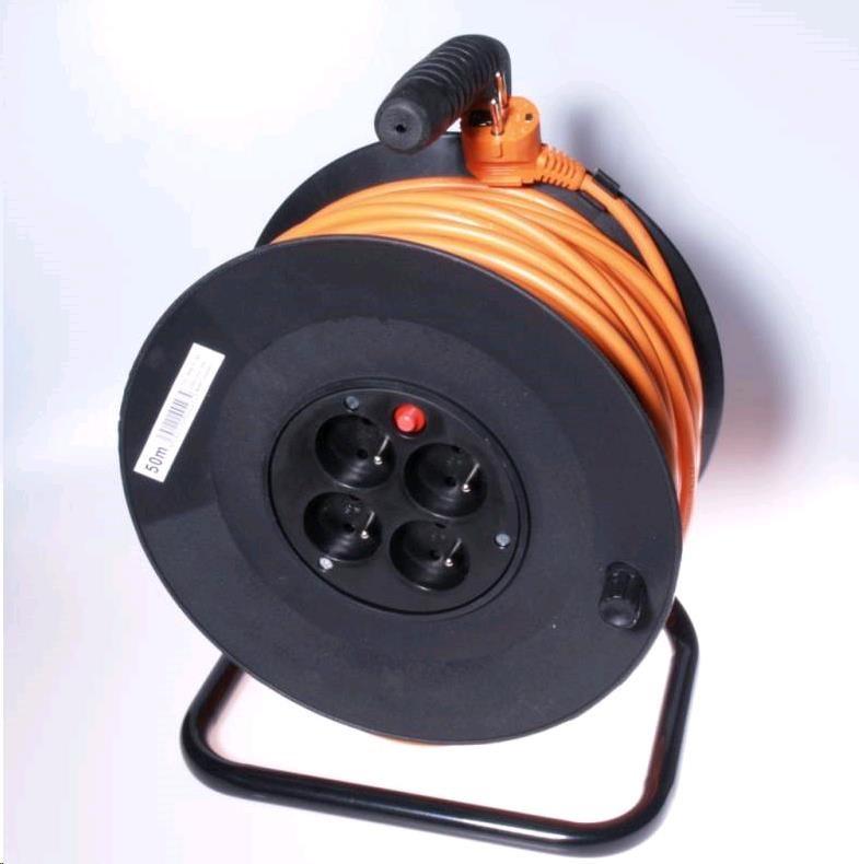 PREMIUMCORD Prodlužovací přívod 230V buben 50m, 4 zásuvky (ppb-01-50)