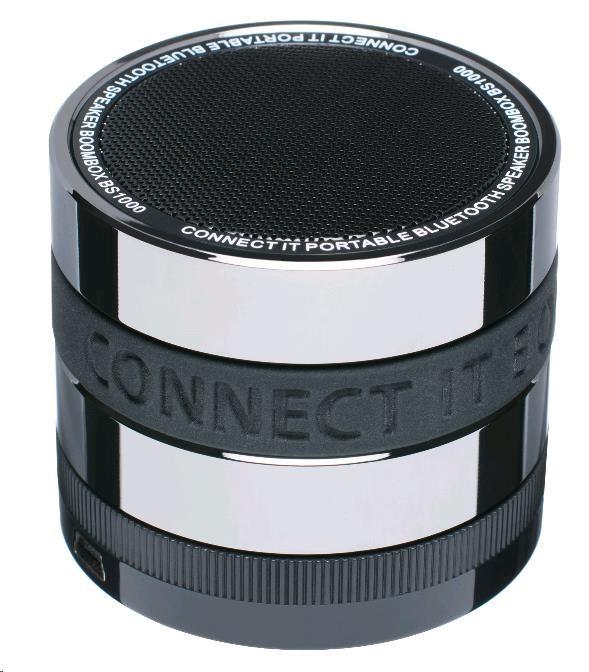CONNECT IT Bezdrátový reproduktor BOOM BOX BS1000 (bezdrátový, přenosný, nabíjecí), černý (CI-238)