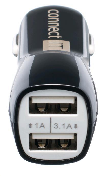 CONNECT IT USB PREMIUM nabíječka univerzální do auta (2x USB 3,1A a 1A., autoadaptér CL) (CI-243)