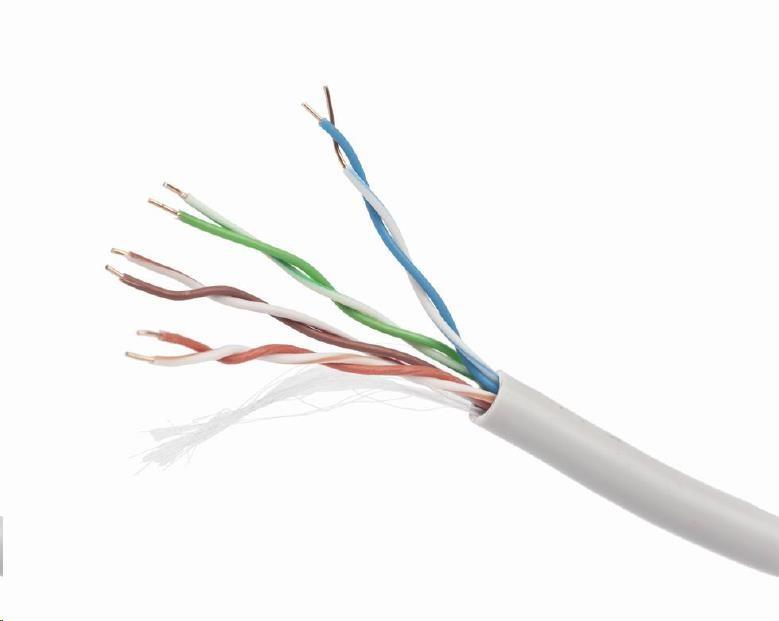 GEMBIRD UTP kabel, Cat5e, drát 305m, 24AWG, PVC, šedý (UPC-5004E-SO)