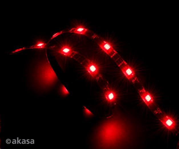 AKASA LED pásek Vegas, Molex 12V napájení, 60cm, červený (AK-LD02-05RD)