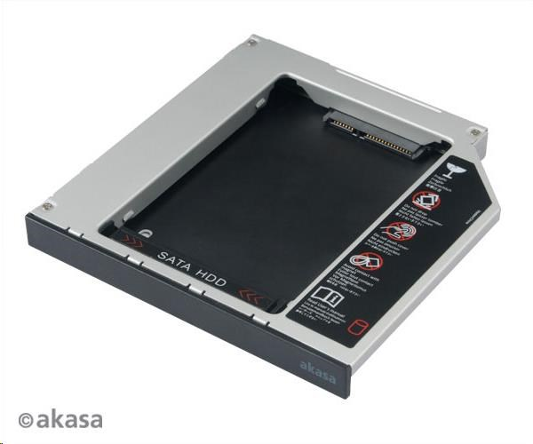 "AKASA HDD box N.Stor D12, 2.5"" SATA HDD/SSD do pozice pro optickou mechaniku IDE (výška HDD do 13mm) (AK-OA2SDE-BKV2)"