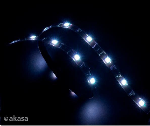 AKASA LED zářivka, 15xLED,12V, 60cm, bílá (AK-LD02-05WH)