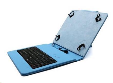 """C-TECH PROTECT pouzdro univerzální s klávesnicí pro 8"""" tablety, FlexGrip, NUTKC-02, modré (NUTKC-02L)"""
