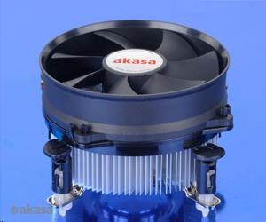 AKASA Chladič CPU AK-CC7108EP01 pro Intel LGA 775 a 1156, 92mm PWM ventilátor, do 77W
