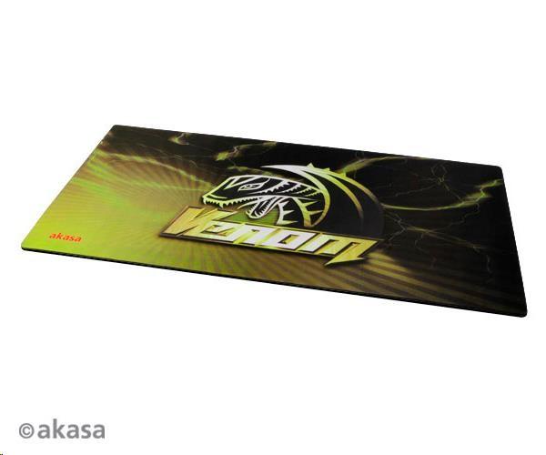 AKASA Podložka pod myš Venom XXL, tloušťka 3mm, přirodní pryž, odolná proti špíně a prachu, žlutá (AK-MPD-01YL)