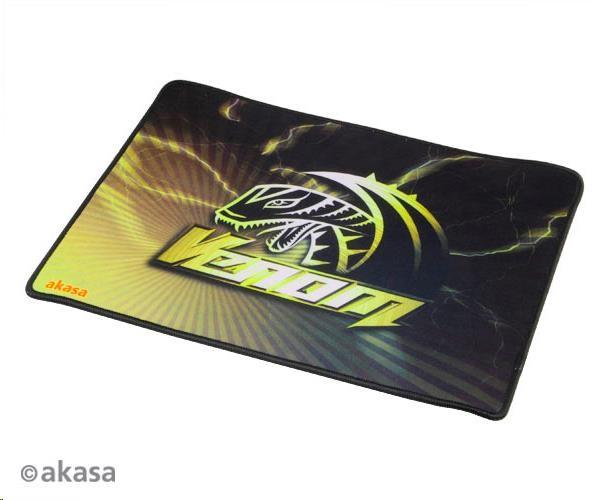 AKASA Podložka pod myš Venom, tloušťka 3mm, přirodní pryž, odolná proti špíně a prachu, žlutá (AK-MPD-02YL)