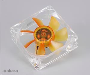 AKASA Ventilátor Amber, 80 x 25mm, prodloužená životnost, velmi tiché, kuličkové ložisko