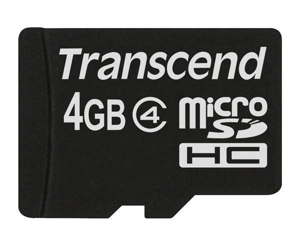 TRANSCEND Micro SDHC Class 4 4GB (bez adaptéru) (TS4GUSDC4)