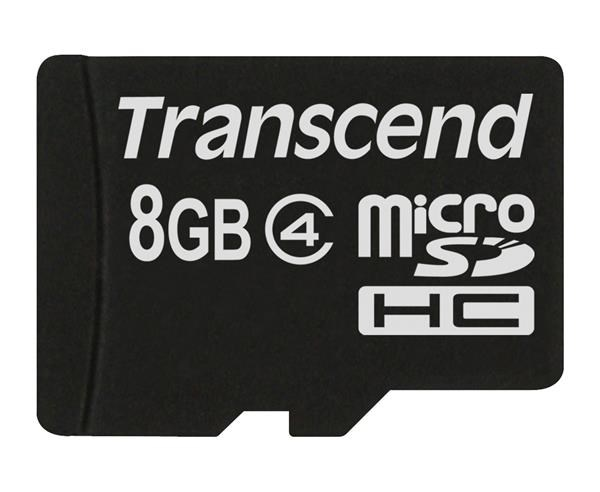 TRANSCEND Micro SDHC Class 4 8GB (bez adaptéru) (TS8GUSDC4)
