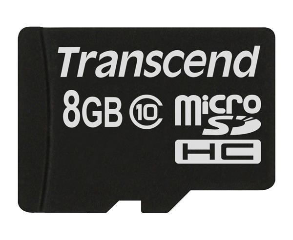 TRANSCEND Micro SDHC Class 10 8GB (bez adaptéru) (TS8GUSDC10)