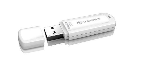 TRANSCEND USB Flash Disk JetFlash®730, 8GB, USB 3.0, White (R/W 55/5 MB/s) (TS8GJF730)