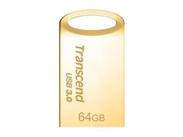 TRANSCEND USB Flash Disk JetFlash®710G, 64GB, USB 3.0, Gold (R/W 90/20 MB/s) (TS64GJF710G)