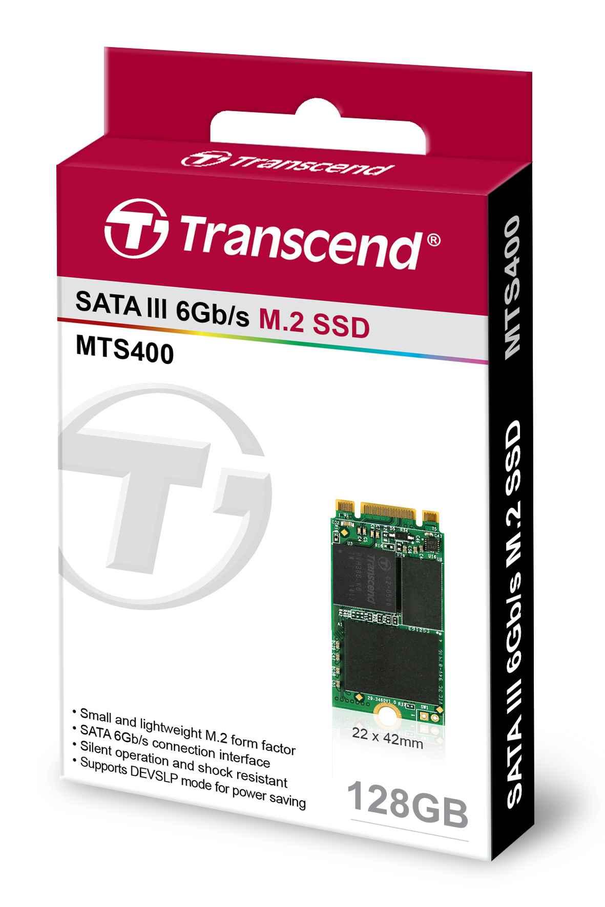 TRANSCEND Industrial SSD MTS400 128GB, M.2 2242, SATA III 6Gb/s, MLC (TS128GMTS400S)