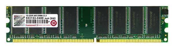 DIMM DDR 512MB 400MHz TRANSCEND 1Rx8, CL3