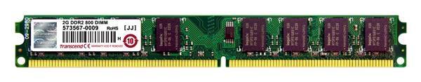 DIMM DDR2 2GB 800MHz TRANSCEND 2Rx8 CL5 (TS256MLQ64V8U)