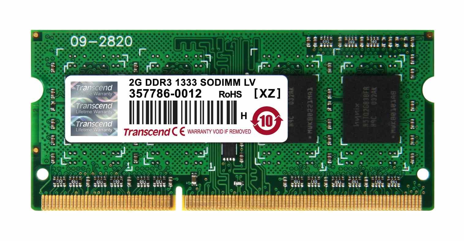 SODIMM DDR3L 2GB 1333MHz TRANSCEND 1Rx8 CL9 (TS256MSK64W3N)