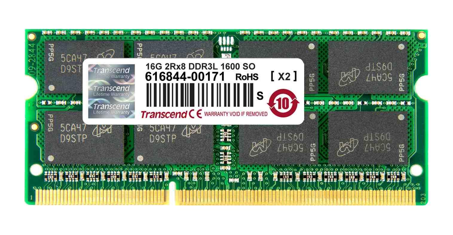 SODIMM DDR3L 16GB 1600MHz TRANSCEND 2Rx8 CL11 (TS2GSK64W6Q)