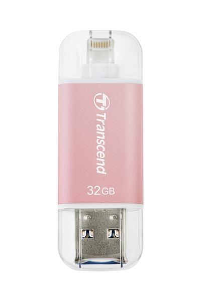 TRANSCEND JetDrive™ Go 300, 32GB, Lightning/USB 3.1, Rose Gold (TS32GJDG300R)