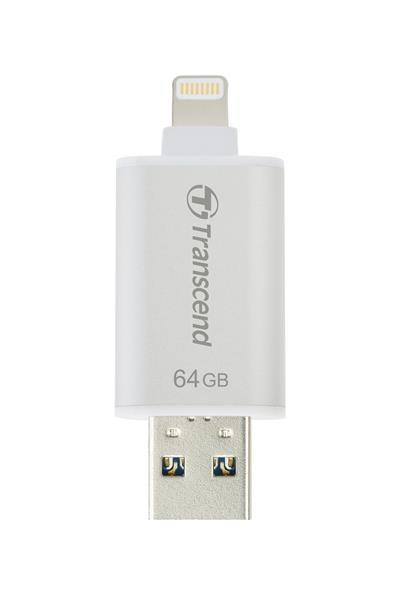 TRANSCEND JetDrive™ Go 300, 64GB, Lightning/USB 3.1, Silver (TS64GJDG300S)