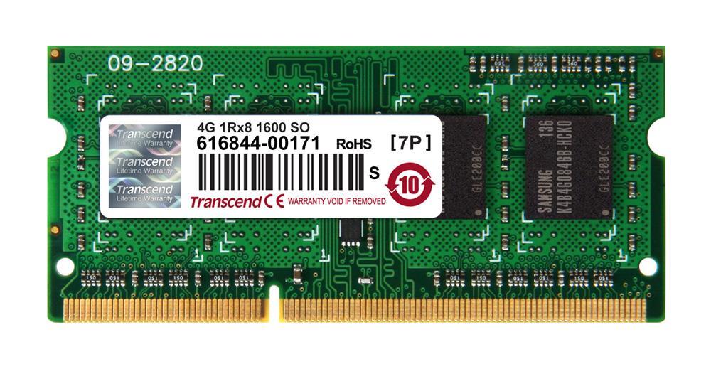 SODIMM DDR3L 4GB 1600MHz TRANSCEND pro Apple iMac 2013 (SR,x8) (TS4GJMA384H)