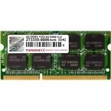 SODIMM DDR3 4GB 1333MHz TRANSCEND pro Apple Macbook series, 2Rx8 CL9 (TS4GAP1333S)