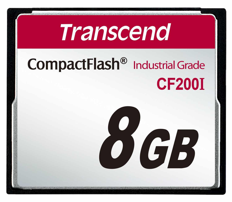 TRANSCEND Industrial Compact Flash Card CF200I 8GB, SLC (UDMA5)