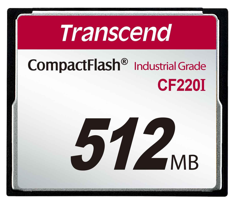 TRANSCEND Industrial Compact Flash Card CF220I 512MB, SLC (UDMA5) (TS512MCF220I)