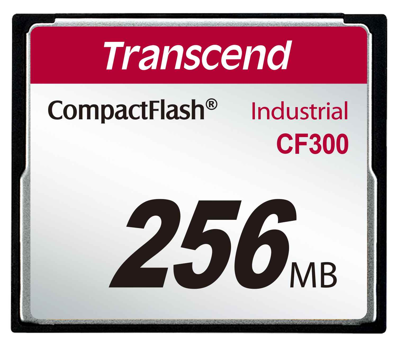 TRANSCEND Industrial Compact Flash Card CF300 256MB, SLC (300X, UDMA5, TYPE I) (TS256MCF300)