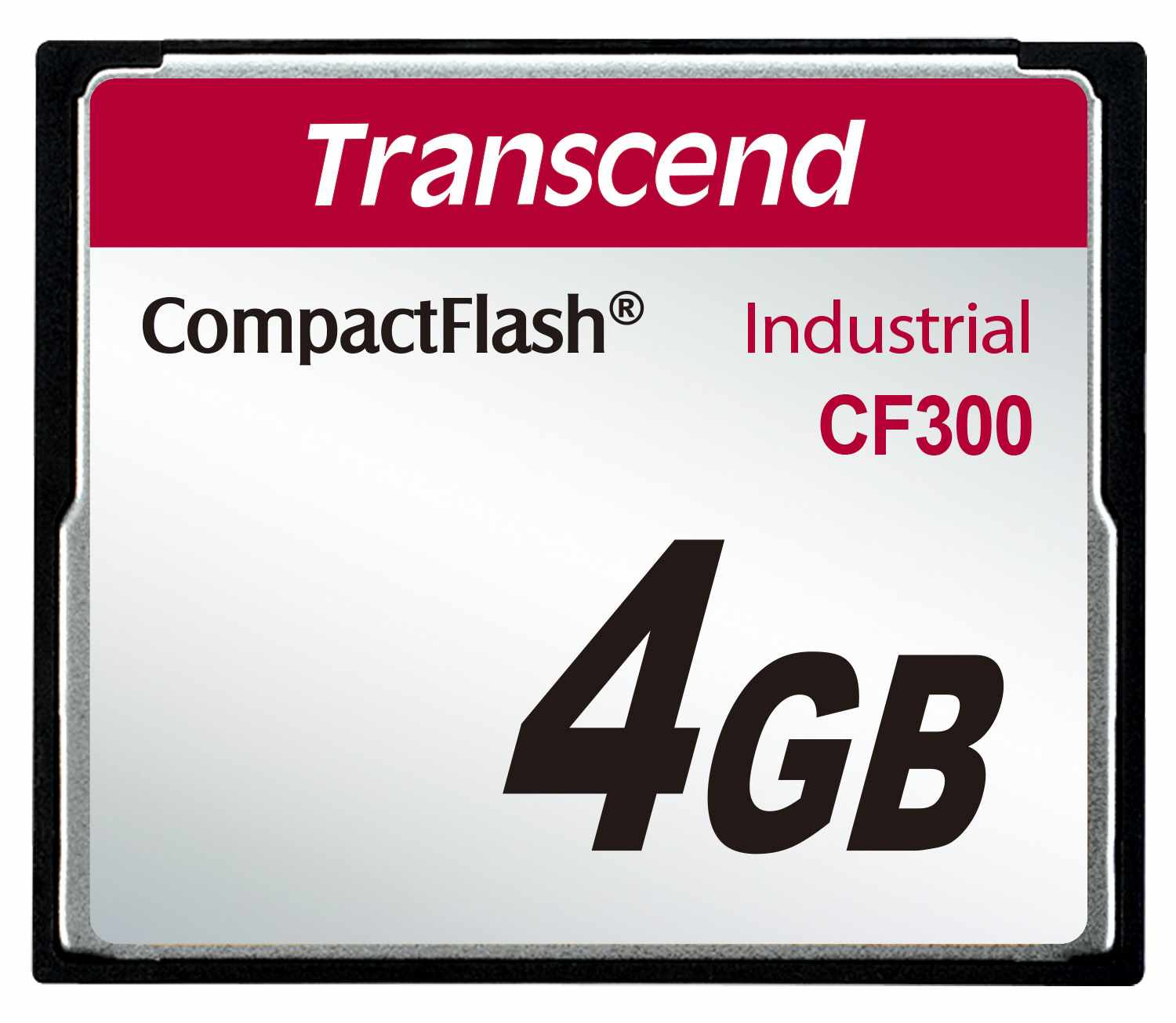 TRANSCEND Industrial Compact Flash Card CF300 4GB, SLC (300X, UDMA5, TYPE I)