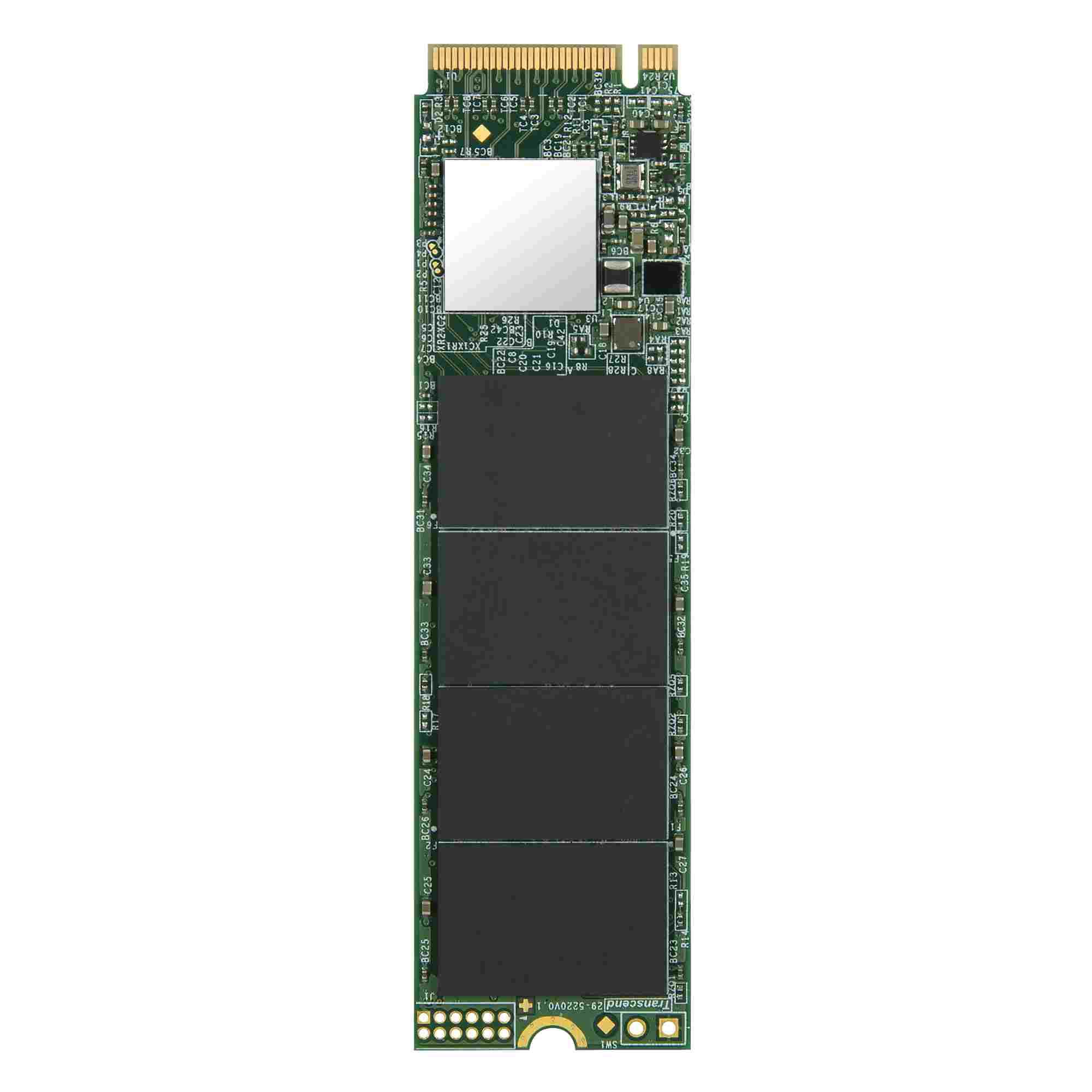 TRANSCEND M.2 SSD 110S, 128GB, M.2 2280, PCIe Gen3x4, 3D TLC, DRAM-less