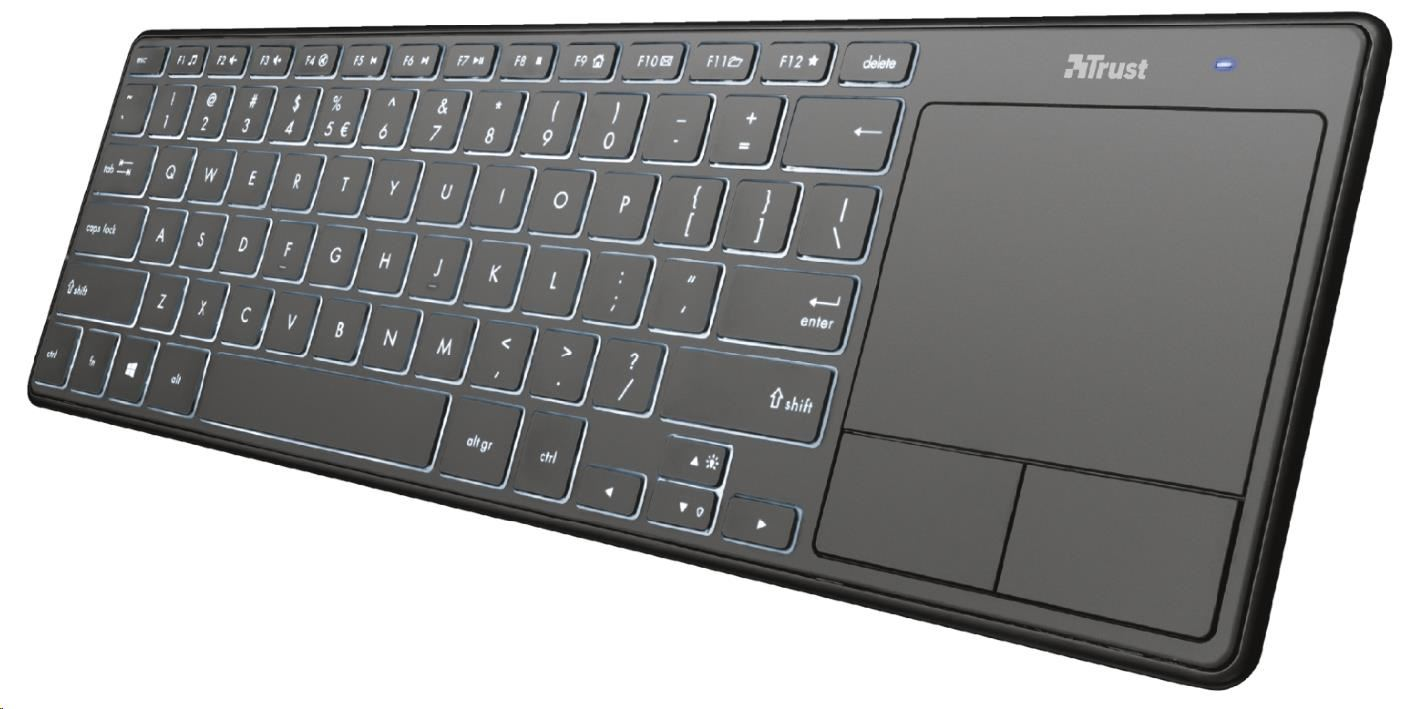 TRUST klávesniceTheza Wireless Keyboard with touchpad